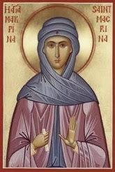 Santa Makrina Muda, Perawan