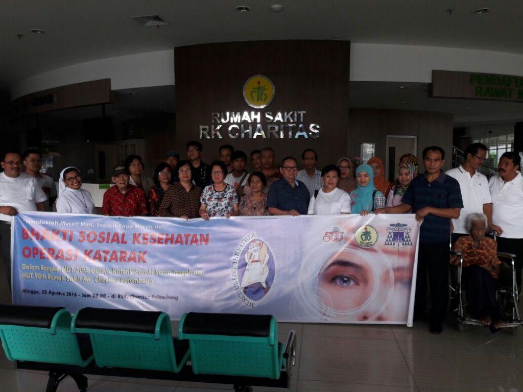 Bakti Sosial Operasi Katarak  HUT Emas Paroki Santo Yoseph Palembang